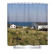 Houses In Low Hauxley. Shower Curtain