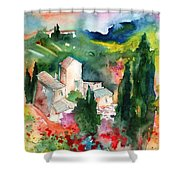 Houses In Montepulciano In Tuscany 01 Shower Curtain