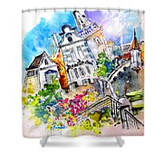 Houses In Ponte De Lima Shower Curtain