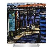 Houses In Sinamaica Lake - Venezuela Shower Curtain