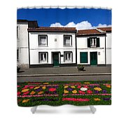 Houses In The Azores Shower Curtain