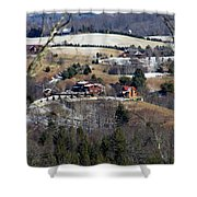 Houses On The Mountains Shower Curtain