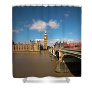 Houses Of Parliament And Westminster Bridge Shower Curtain