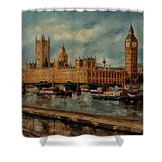Houses  Of  Parliament  - London Shower Curtain