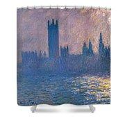 Houses Of Parliament - Sunlight Effect Shower Curtain