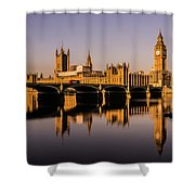 Houses Of Parliament With Westminster Bridge. Shower Curtain