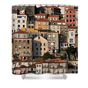 Houses Of Porto In Portugal Shower Curtain