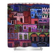 Houses Of San Miguel 2 Shower Curtain