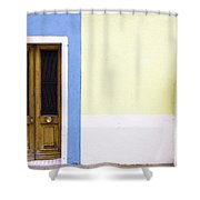Houses Of Venice - Blue/yellow Shower Curtain
