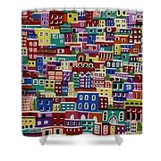 Houses On The Hill Shower Curtain