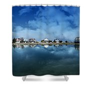 Houses Reflecting In The Bay Shower Curtain