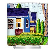 Houses Remastered Shower Curtain