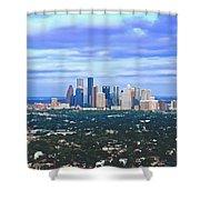 Houston 1980s Shower Curtain