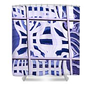 Houston Abstract Thinking Of Guadi Shower Curtain