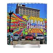 Houston, Inspired, Hip, Tasty, Funky, Savvy Shower Curtain