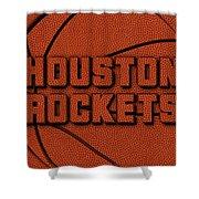 Houston Rockets Leather Art Shower Curtain