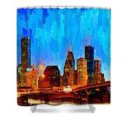 Houston Skyline 102 - Pa Shower Curtain