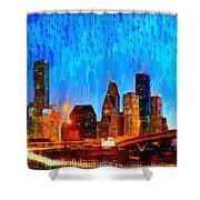 Houston Skyline 110 - Pa Shower Curtain