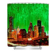 Houston Skyline 115 - Pa Shower Curtain