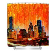 Houston Skyline 116 - Pa Shower Curtain