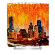 Houston Skyline 119 - Pa Shower Curtain