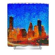 Houston Skyline 130 - Pa Shower Curtain