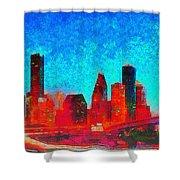 Houston Skyline 131 - Pa Shower Curtain