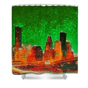 Houston Skyline 133 - Pa Shower Curtain