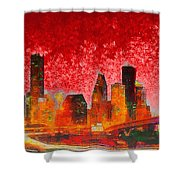 Houston Skyline 134 - Pa Shower Curtain