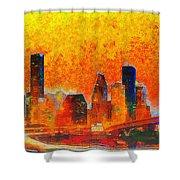 Houston Skyline 135 - Pa Shower Curtain