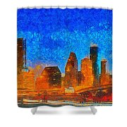 Houston Skyline 40 - Pa Shower Curtain