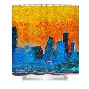 Houston Skyline 41 - Pa Shower Curtain