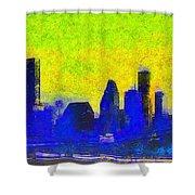 Houston Skyline 42 - Pa Shower Curtain