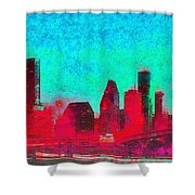 Houston Skyline 44 - Pa Shower Curtain