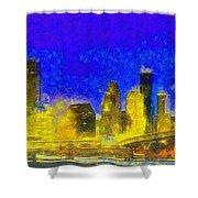 Houston Skyline 45 - Pa Shower Curtain