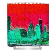Houston Skyline 47 - Pa Shower Curtain