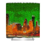 Houston Skyline 48 - Pa Shower Curtain