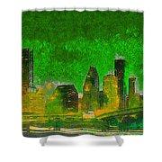 Houston Skyline 49 - Pa Shower Curtain