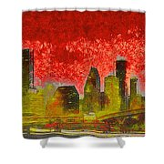Houston Skyline 50 - Pa Shower Curtain