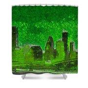 Houston Skyline 51 - Pa Shower Curtain