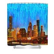 Houston Skyline 80 - Pa Shower Curtain