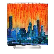Houston Skyline 81 - Pa Shower Curtain