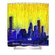 Houston Skyline 83 - Pa Shower Curtain
