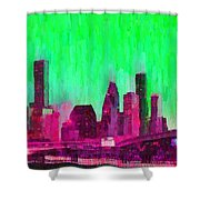 Houston Skyline 86 - Pa Shower Curtain