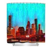 Houston Skyline 87 - Pa Shower Curtain