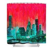 Houston Skyline 91 - Pa Shower Curtain