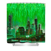 Houston Skyline 96 - Pa Shower Curtain