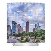Houston Skyline View Shower Curtain