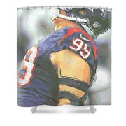 Houston Texans Jj Watt 3 Shower Curtain