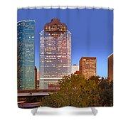 Houston Texas Skyline At Dusk Shower Curtain
